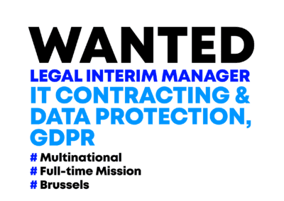Legal Interim Manager – IT Contracting & Data Protection – GDPR